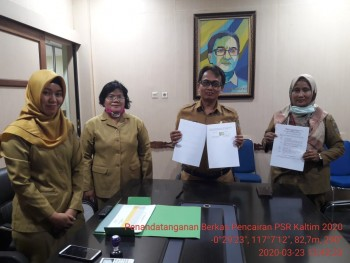 Penandatanganan Berkas Pencairan Peremajaan Sawit Rakyat Kalimantan Timur Tahap 1 Tahun 2020 (Vidcon)