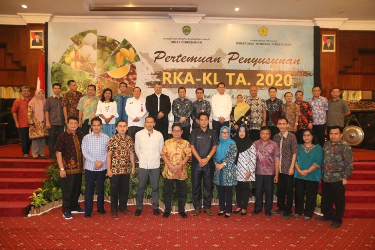 Penyusunan RKA-KL TA 2020 Ditjen Perkebunan, Wagub Meminta Maksimalkan Pengawasan di Bidang Perkebunan