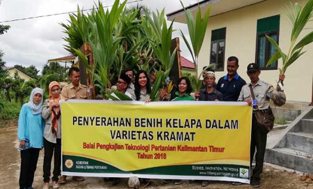 1.000 Bibit Kelapa Terdistribusi ke Kelompok Tani Tenggarong Seberang