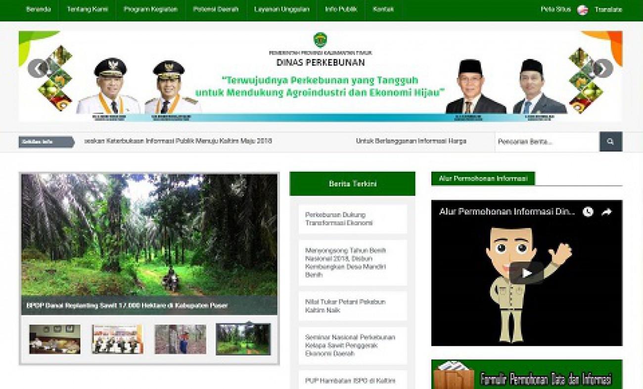 Website Disbun 5 Besar Nasional