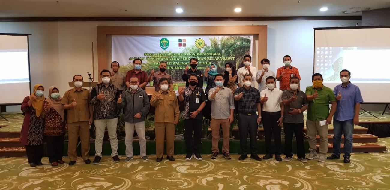 Disbun Sosialisasi Teknis dan Administrasi Sarana Prasarana Perkebunan Kelapa Sawit