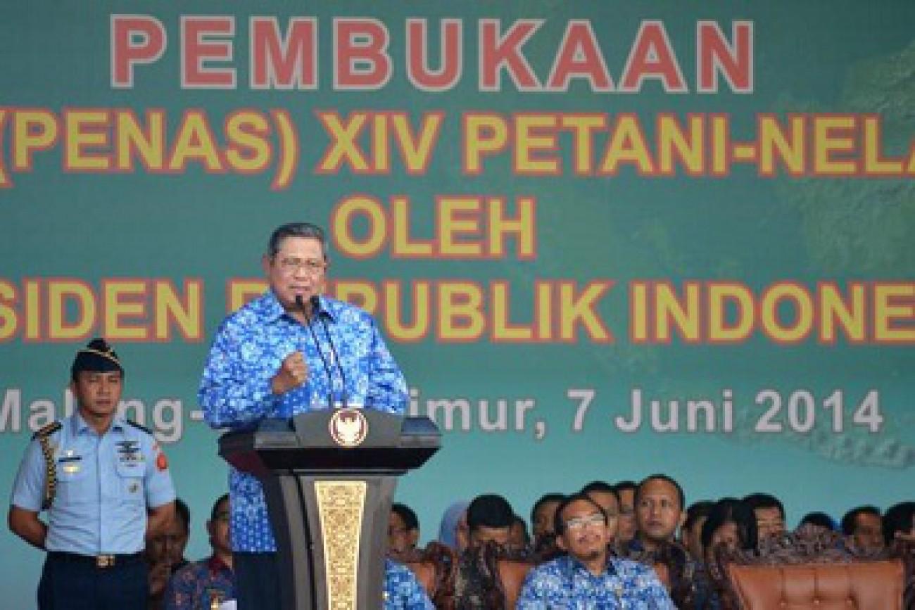 SBY Berterima Kasih kepada Petani dan Nelayan