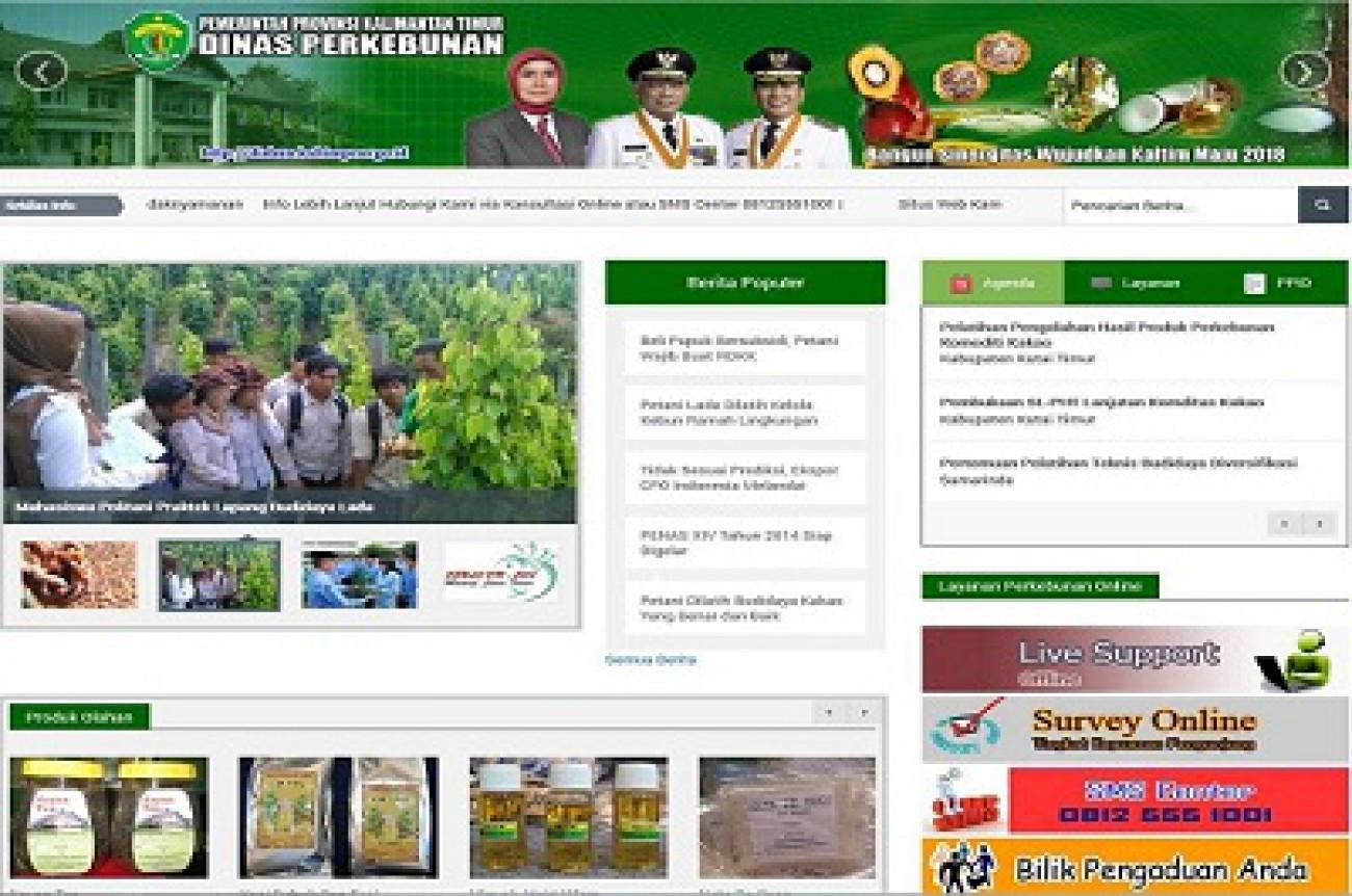 Website Disbun Kembali Raih Penghargaan Nasional