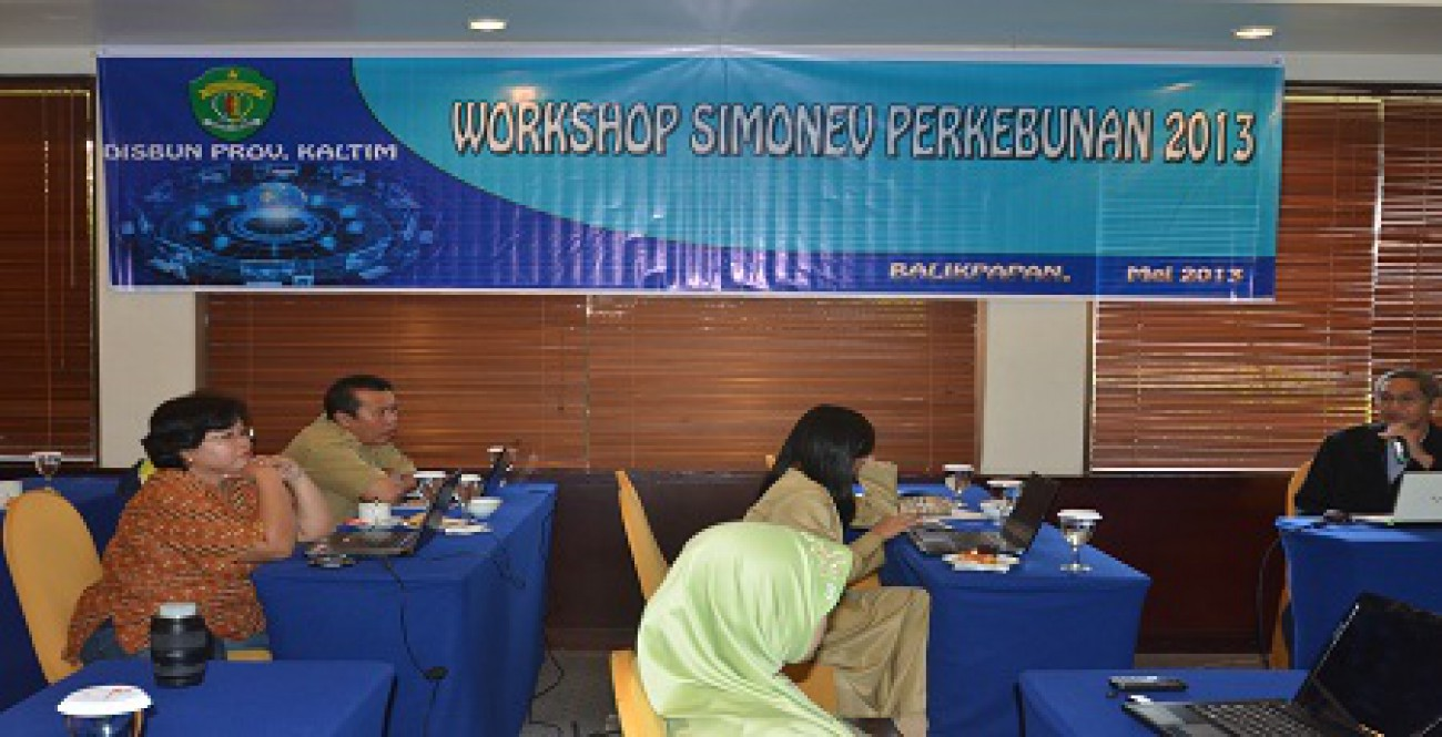 Disbun Kaltim Gelar Workshop SIMONEV