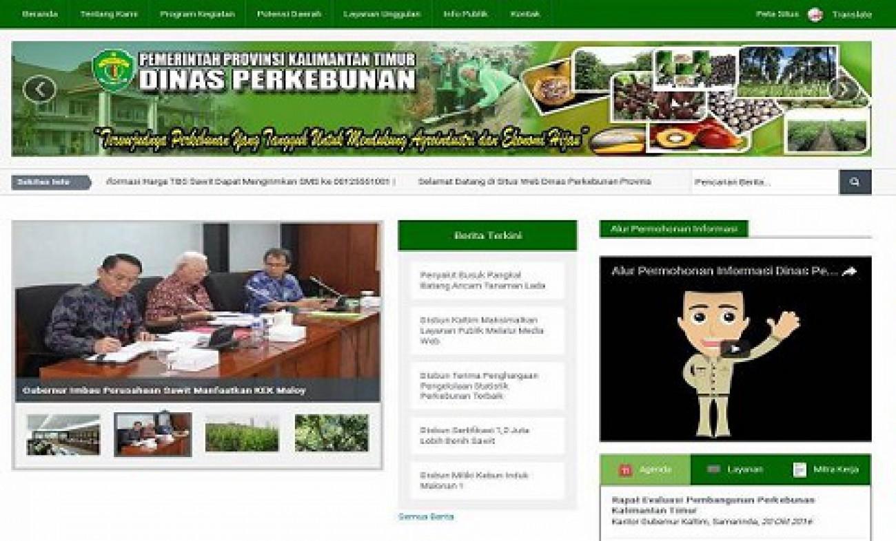 Lagi, Website Disbun Kaltim Raih Penghargaan Nasional