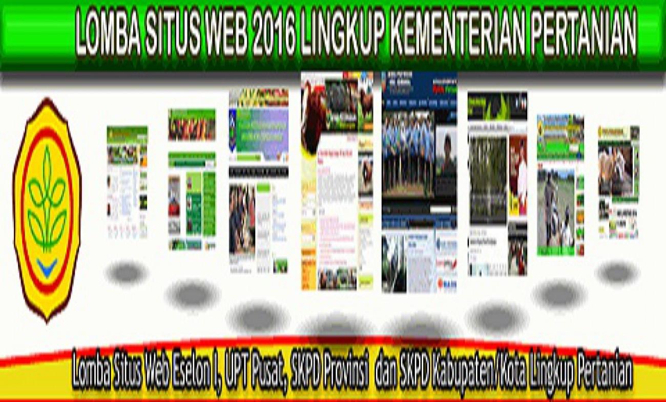 Lomba Website Kementerian Pertanian RI 2016 Digelar Kembali