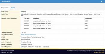 Belanja Modal Peralatan dan Mesin (Personal Kompuer Lainnya/Dekstop 3 Unit, Laptop 1 Unit, Personal Komputer Lainnya/ Laptop 1 Unit, Printer 5 Unit)