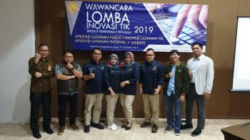 Wawancara 5 Besar Lomba Inovasi TIK Kementerian Pertanian Tahun 2019
