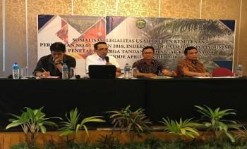 Disbun Sosialisasi Permentan No 5 Tahun 2018 Tentang Pembukaan Lahan Tanpa Bakar