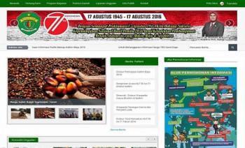 Website Disbun Kaltim Nominasi 5 Besar Nasional