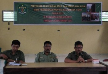 Petani Marangkayu Dilatih Menyusun RDK/RDKK