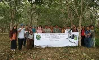 Petani Karet Dilatih Olah Produk Hasil Perkebunan
