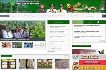 Situs Web Disbun Masuk 10 Besar Nasional