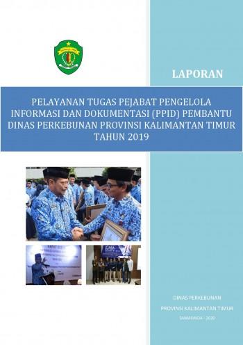 Buku Laporan PPID Pembantu Dinas Perkebunan Tahun 2019